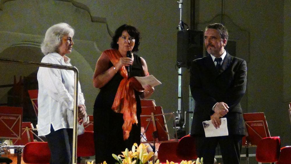 Giovanna Colombo (Presidente del comitato Renata Tebaldi), Maria Giovanna Gambazza (Sindaco di Busseto) e Danilo Boaretto